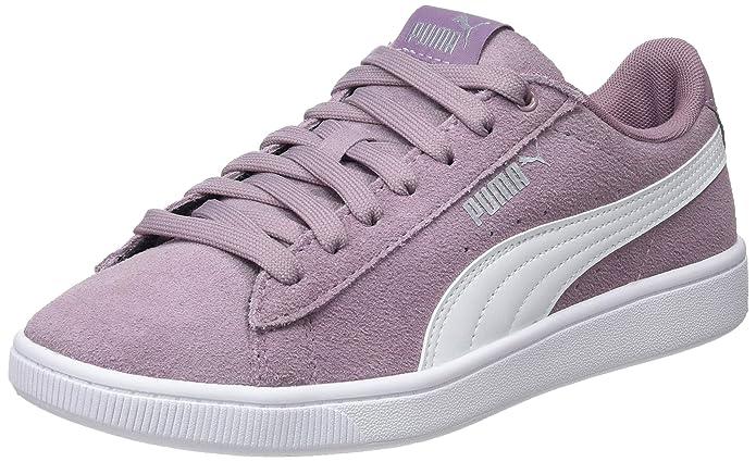Puma Vikky V2 Sneaker Damen Violett mit weißen Streifen