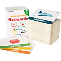 learnworx Toddler Flash Cards - 101 Baby Flash Cards - 202 Sides - Learn Objects, Numbers & Play Games - Toddler…