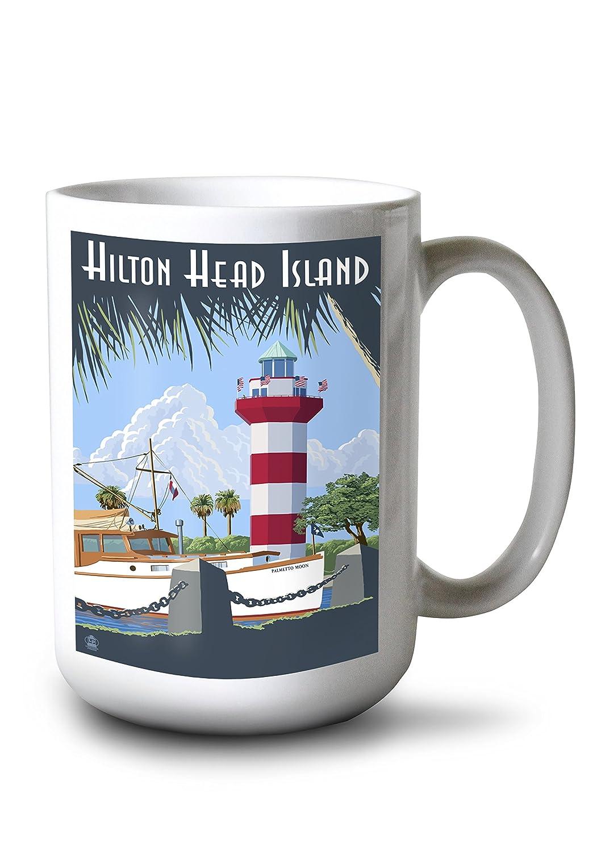 【お取り寄せ】 Hilton Head B077RWSTZC Island、SC Mug – Harbour Town灯台 18 12 x 18 Metal Sign LANT-42460-12x18M B077RWSTZC 15oz Mug 15oz Mug, 命一番堂:ef003221 --- mcrisartesanato.com.br