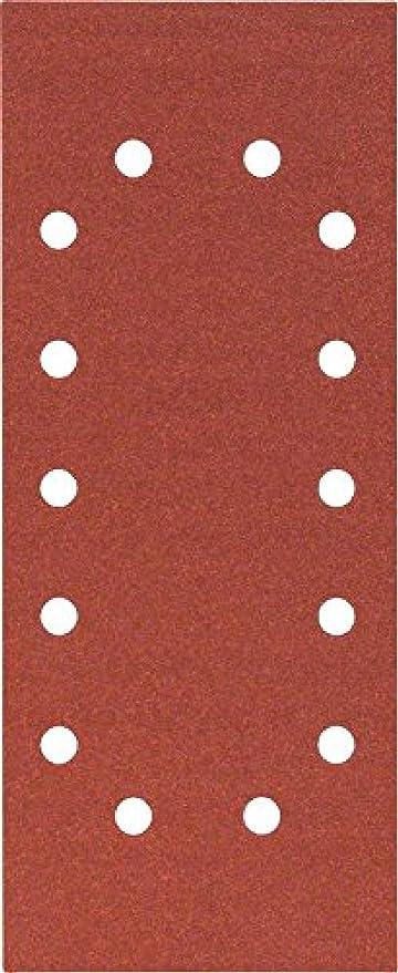 14 Trous Lot de 10 Feuille Abrasif pour Ponceuses Vibrantes 100 Grain 115mm x 230mm