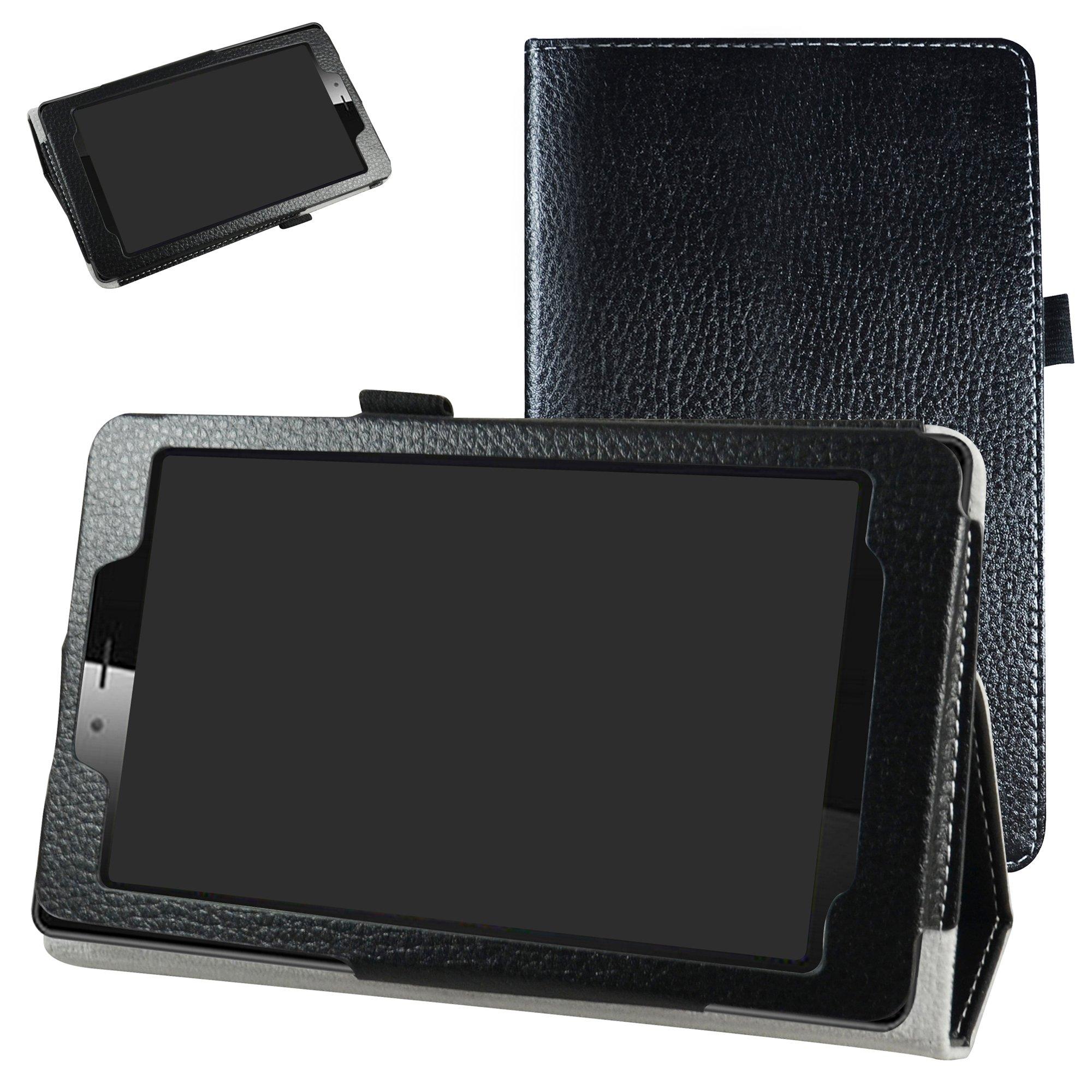 "Mama Mouth vodafone smart tab mini 7 / ALCATEL pixi 4 7 Case, PU Leather Folio 2-folding Stand Cover for 7"" vodafone smart tab mini 7 / ALCATEL pixi 4 7 Android Tablet 2016,Black"