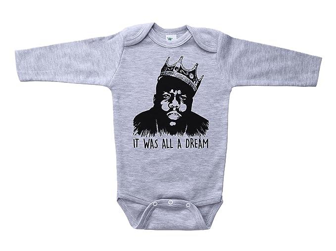 0dbedf3ec109 Amazon.com  Baffle Biggie Smalls Baby Onesie IT was All A Dream ...