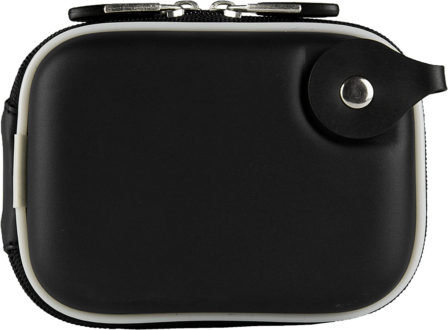 VanGoddy Matte Black Compact Camera Hard Shell Carrying Case with Universal Screen Protector Suitable for Samsung ST76 ST66 ST200F ST150F DV300F DV150F