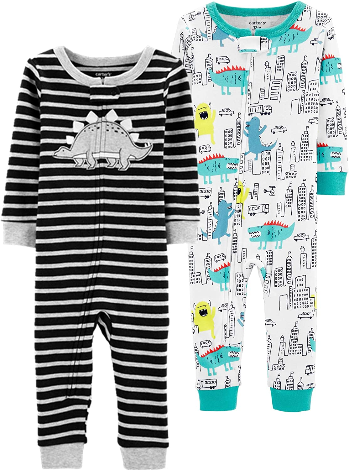 Carters Boys 2-Pack Cotton Footless Pajamas