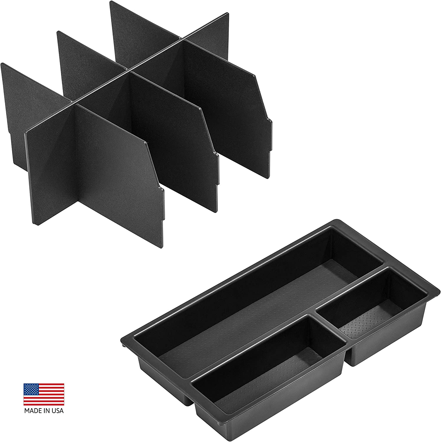 Vehicle OCD - Center Console Divider and Tray Organizer Chevy Suburban/Tahoe/GMC Yukon/XL (2015-2020) - Made in USA