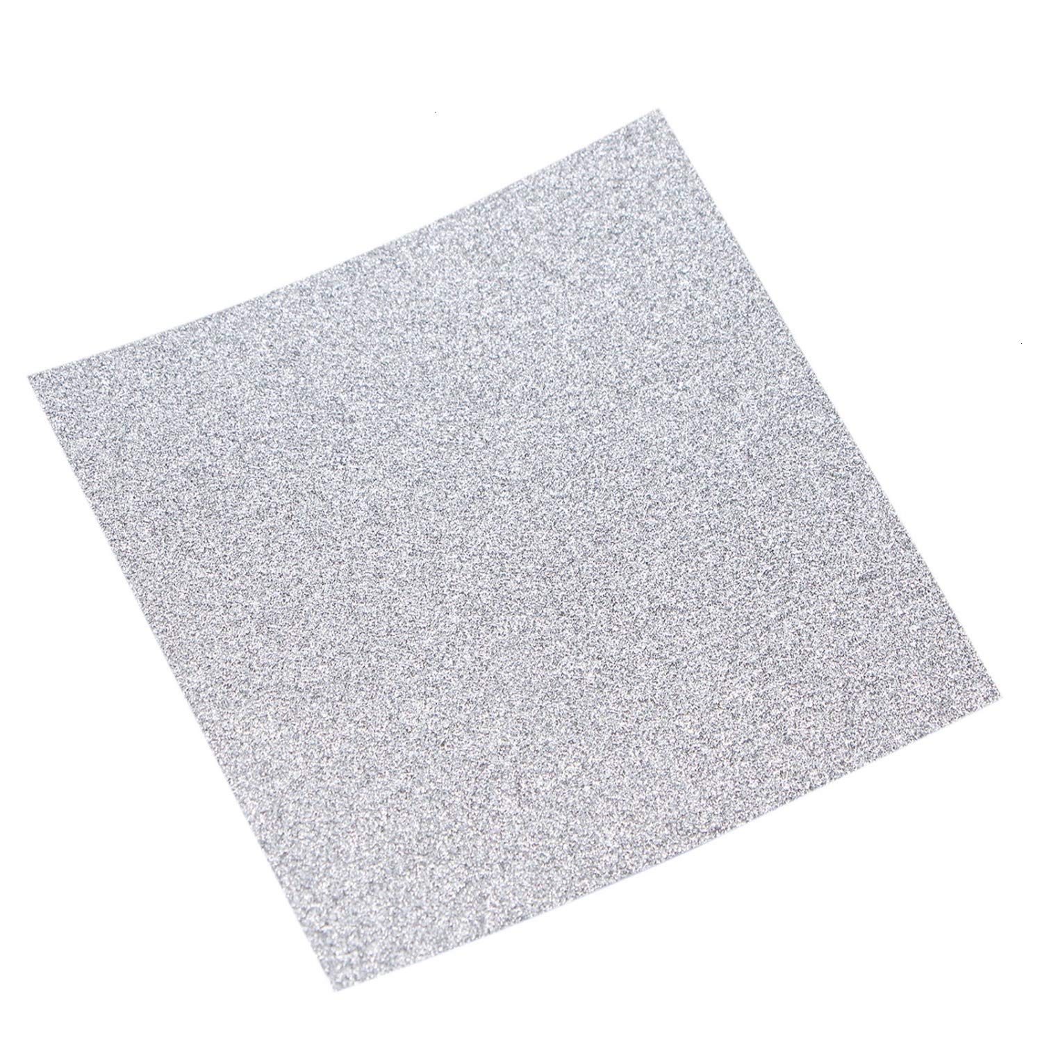 JETEHO 100 PCS Glitter Silver Origami Paper for Crafts Wedding Party Home Decoration 7cm