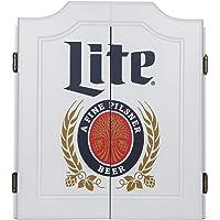 Trademark Games clásico Miller Lite Dartboard Set con gis Junta scoreboards
