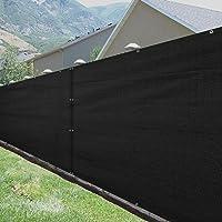 SUNNY GUARD Privacy Screen Fence 5'x 25' Heavy Duty Fence Mesh Windscreen Cover Fabric Shade Blockage UV-Black