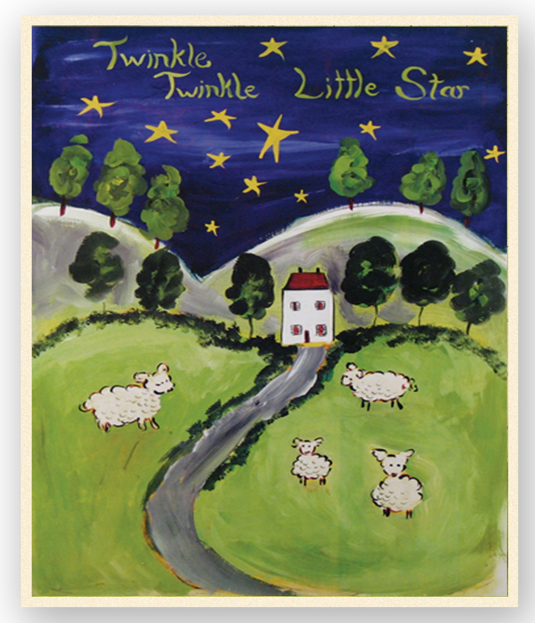 The Kids Room by Stupell Twinkle. Twinkle Sheep in a Field Rectangle Wall Plaque by The Kids Room by Stupell