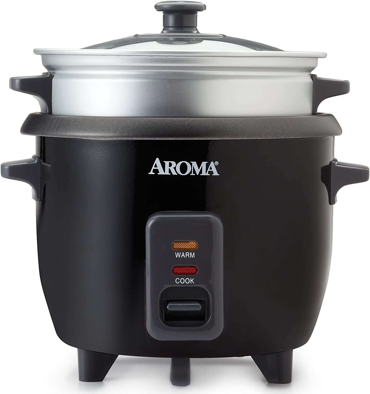Aroma Housewares ARC-363-1NGB 3 Uncooked 6 Cups Cooked Rice Cooker, Steamer, Multicooker, Silver
