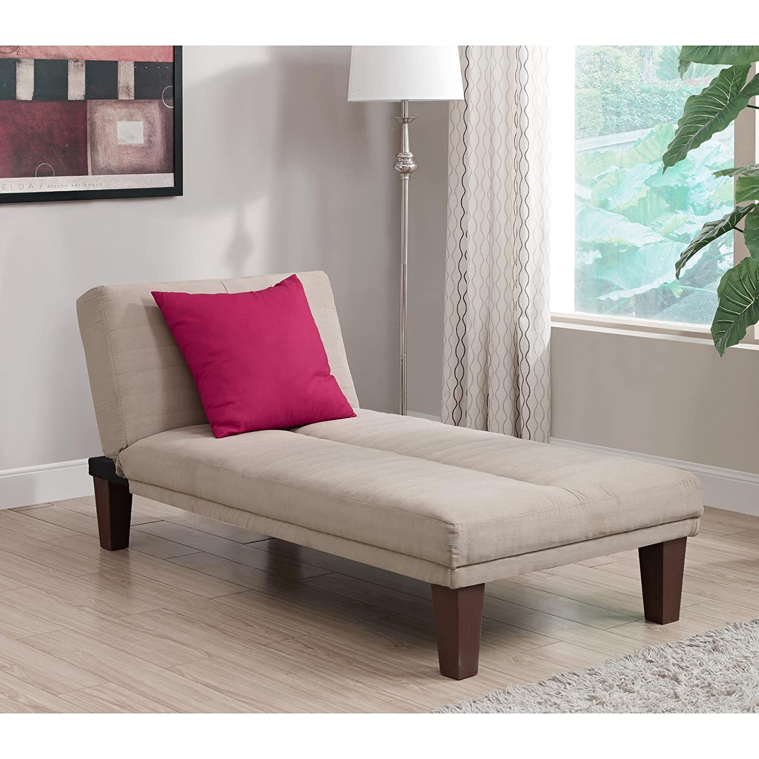 Contemporary Chaise Lounge - Seat Couch Sleeper Indoor Home Furniture Living Room Bedroom Guest Relaxation : bedroom chaise - Sectionals, Sofas & Couches