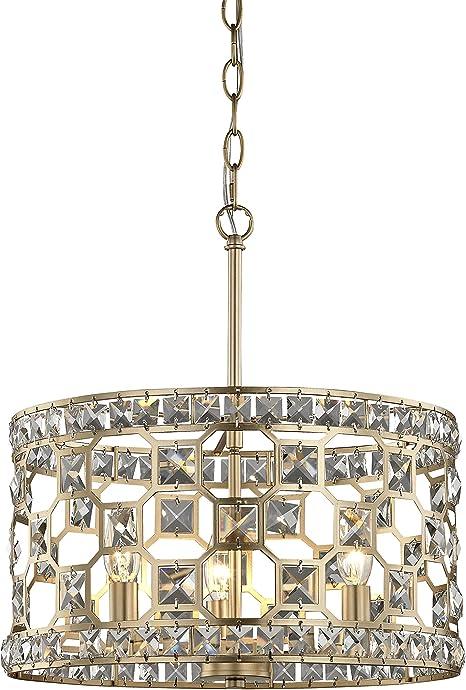Fifth And Main Wl 2176 Paris 3 Light Pendant Champagne Gold Amazon Com