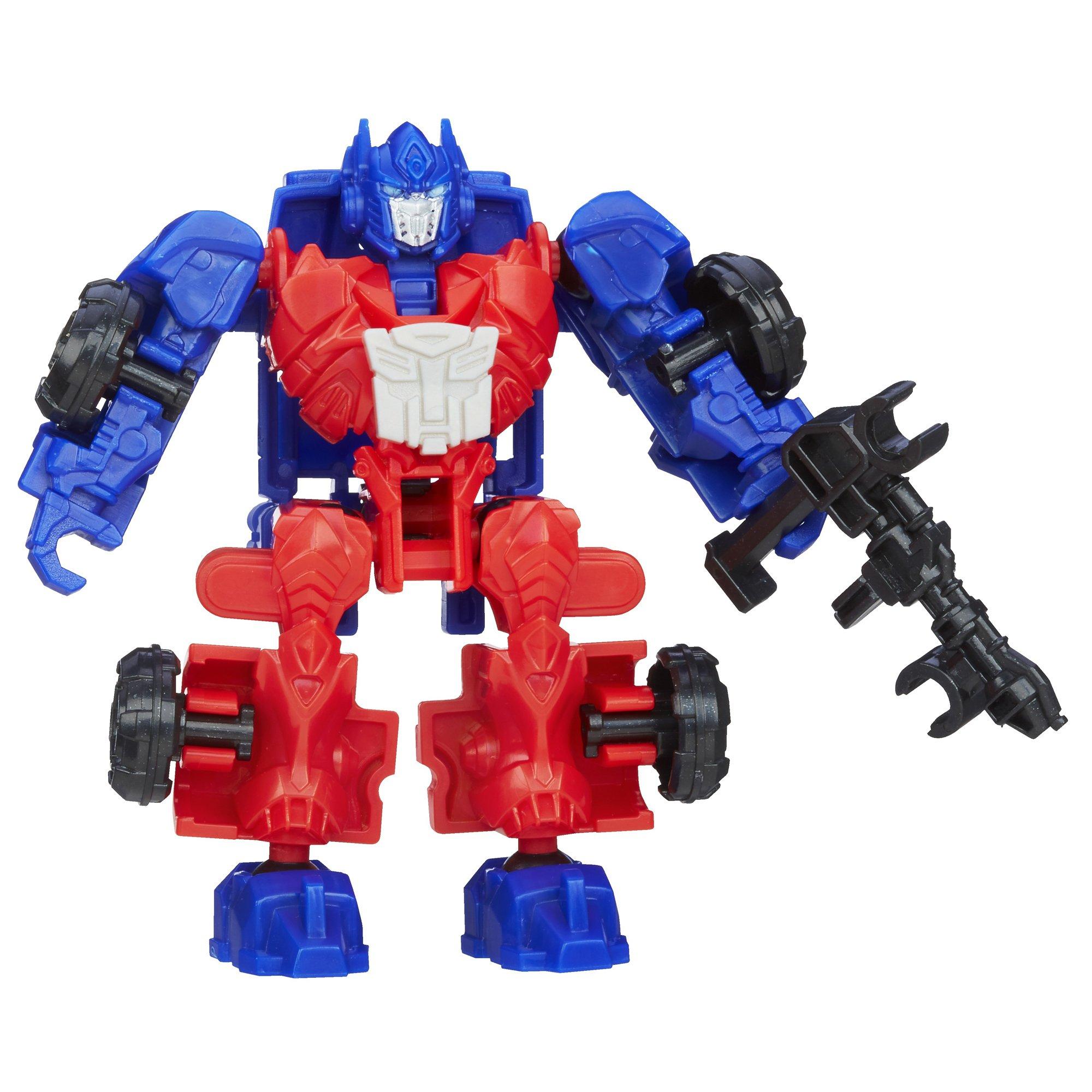Transfrs Age of Extinction Construct-Bots Dinobot Warriors Optimus Prime /& Gnaw