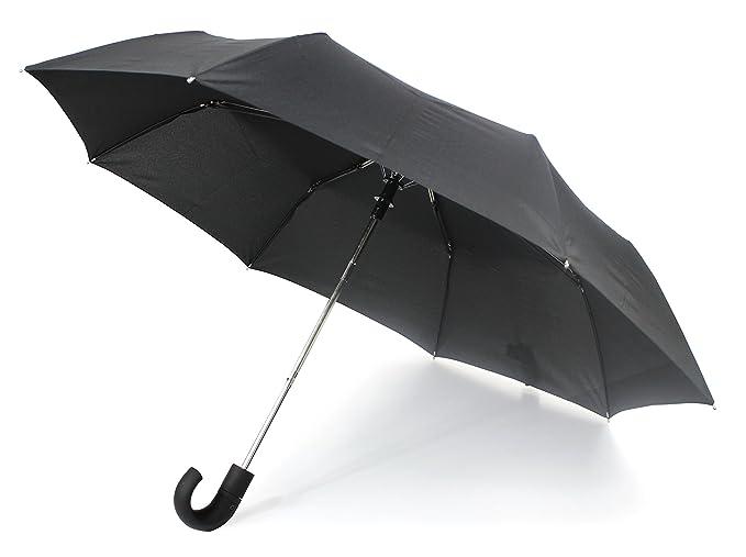 Susino The Caesar Umbrella-Paraguas Hombre, Negro (Negro) - 3958