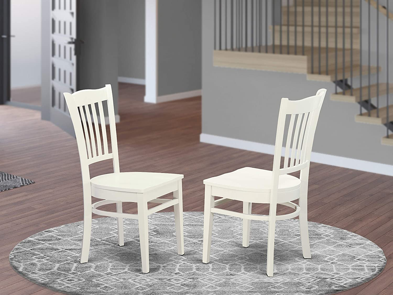 Groton Dining Chair With Wood Seat In Linen White Finish