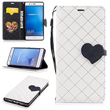 Para Huawei P9 Lite funda, (Amor blanca) El amor golpeó el ...