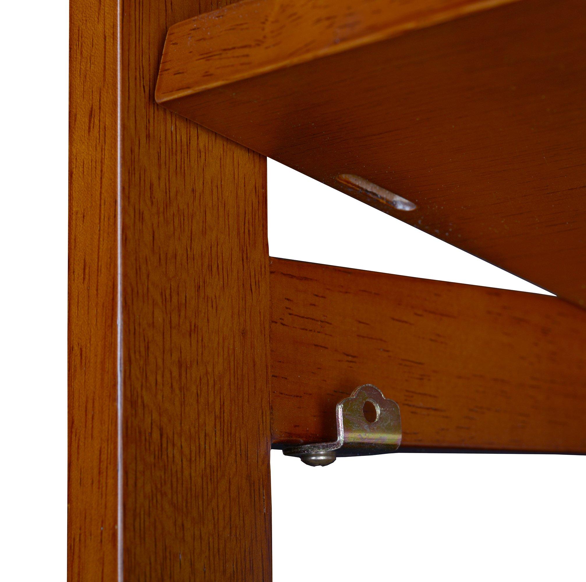Regency Flip Flop 34-inch High Corner Folding Bookcase- Cherry by Regency (Image #6)