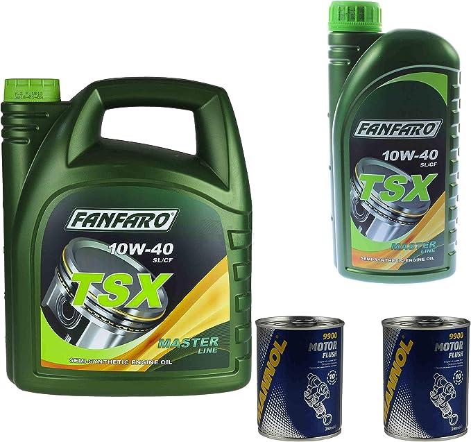6 L Fanfaro Tsx 10w40 Motoröl Api Sn Sl Cf Master Line 2xmannol Motor Flush Auto
