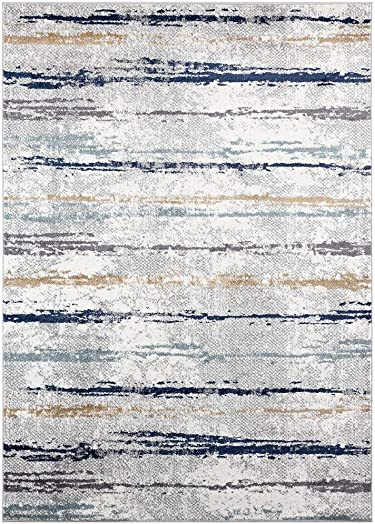 Luxe Weavers Abstract Multi Colored 5x7 Area Rug