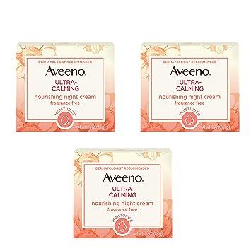 Aveeno Ultra-Calming Nourishing Night Cream for Sensitive Skin with Calming  Feverfew & Nourishing Oat,