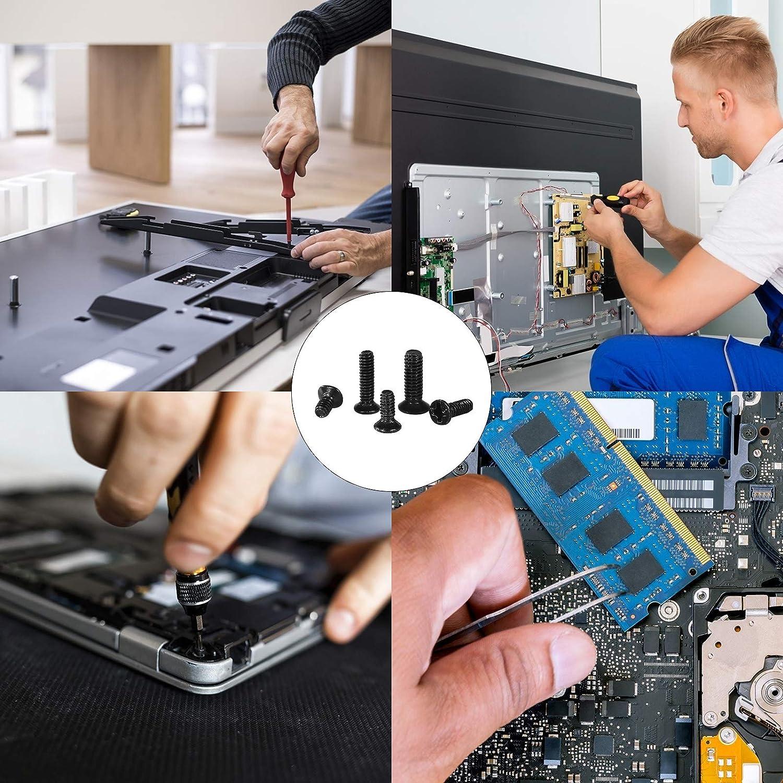 BELIOF 1000pcs Maschinenschrauben Flachkopf Kreuzschlitzschrauben M2 M2.5 M3 KM Carbon Stahl Laptop Reparaturschraube Senkkopf SSD Elektronische Reparaturschrauben Zubeh/ör f/ür Computer HP