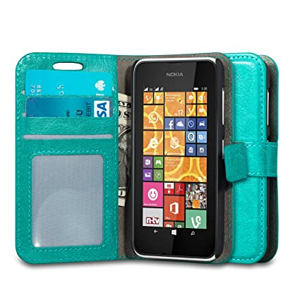 save off 52dd5 463aa Nokia Lumia 530 Case, J&D [Stand View] Lumia 530 Wallet Case [Slim Fit]  [Stand Feature] Premium Protective Case Wallet Leather Case for Nokia Lumia  ...