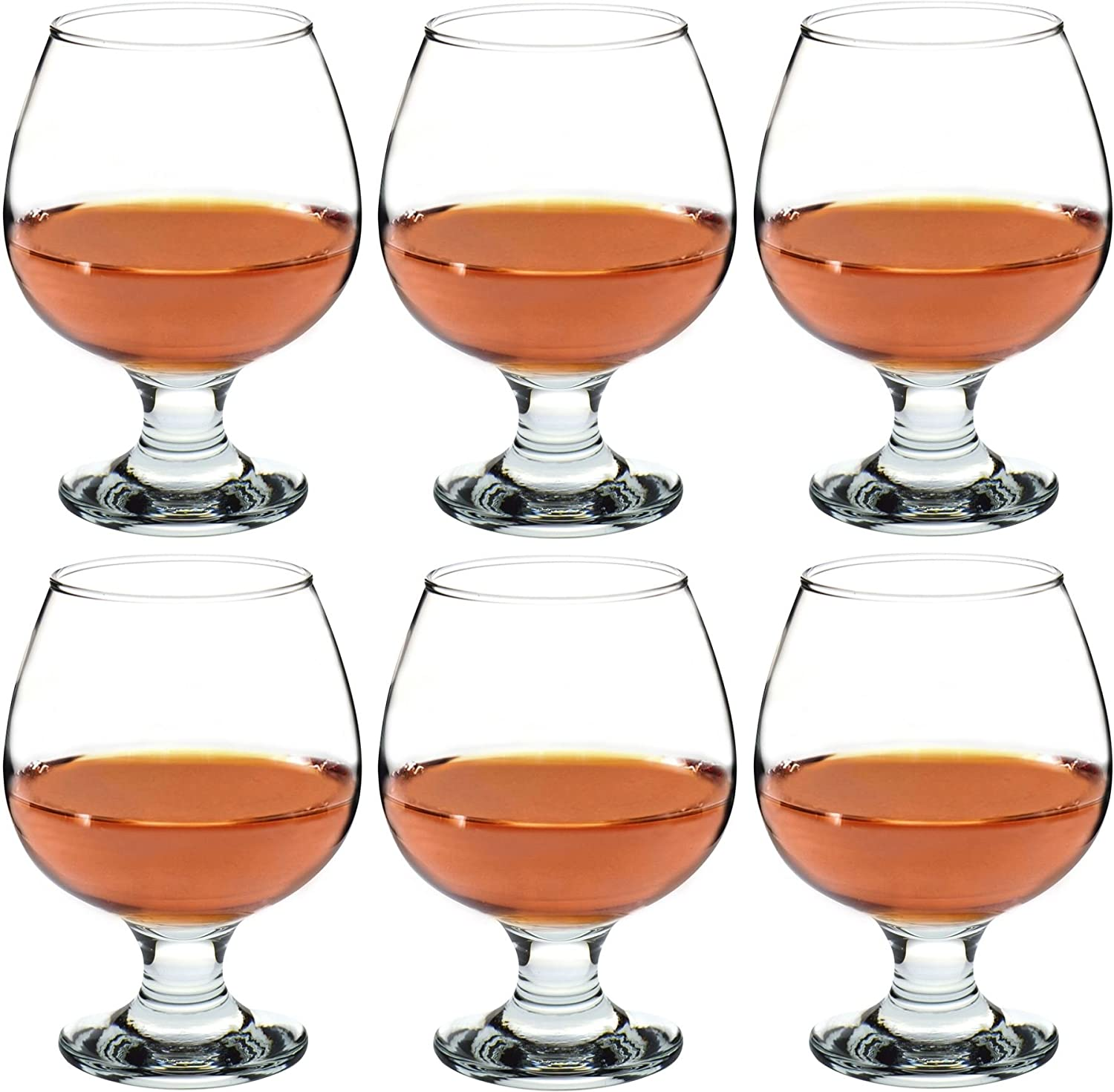 Argon Tableware Brandy/Cognac Snifter Glasses - 390ml (13.7oz) - Pack Of 6 Glasses