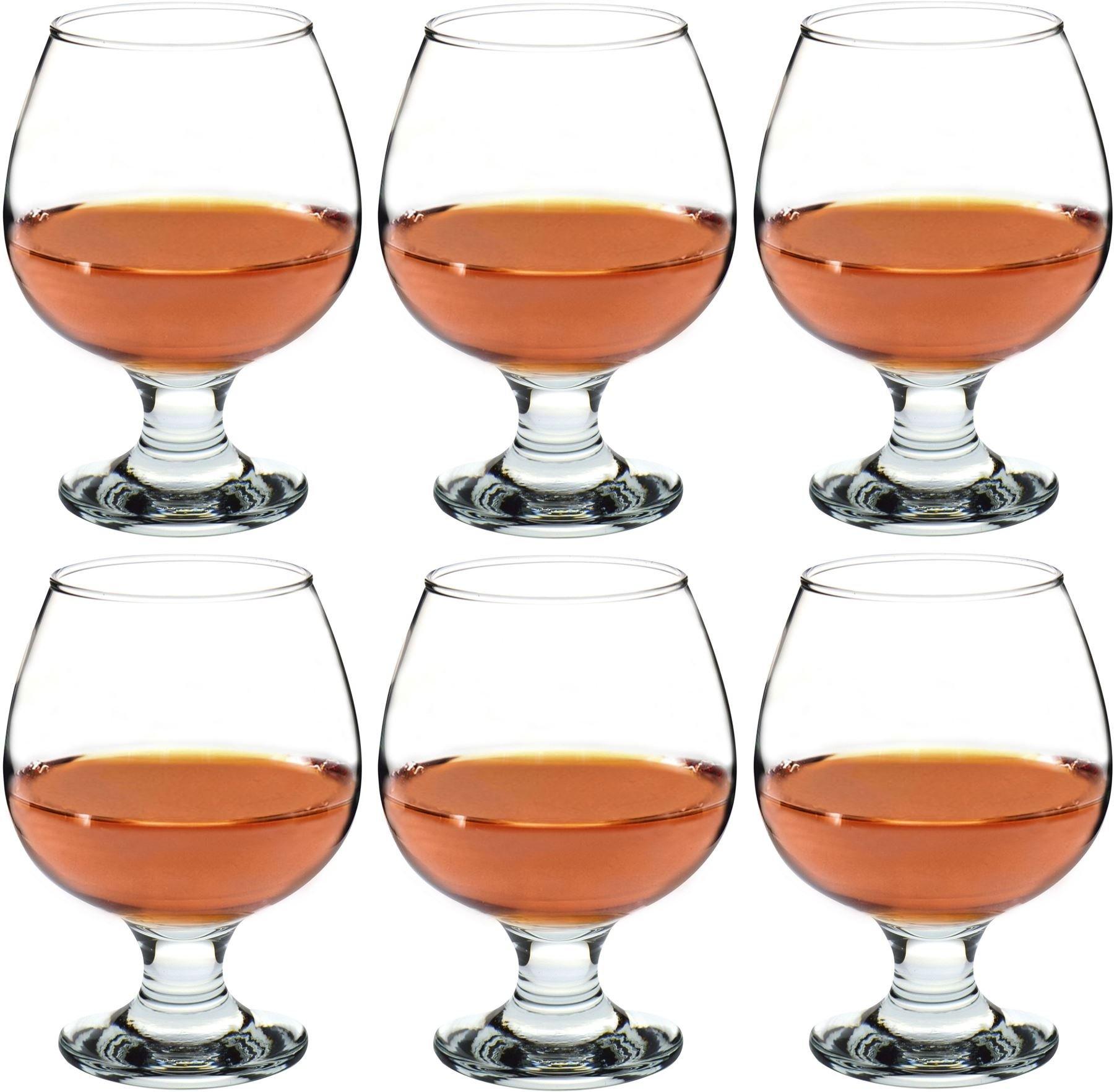 Argon Tableware Brandy / Cognac Snifter Glasses - 390ml (13.7oz) - Pack Of 6 Glasses