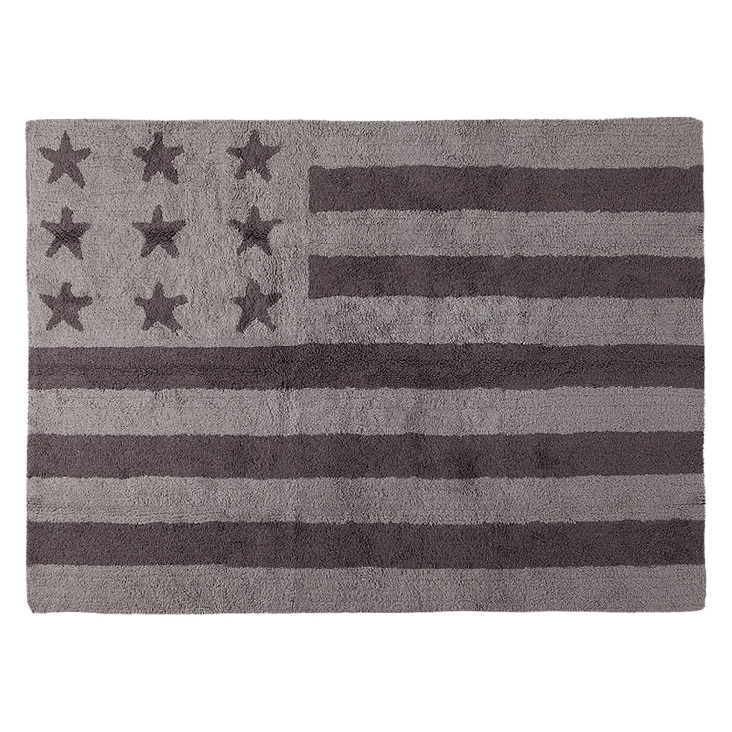 Lorena Canals American Flag Machine Washable Kids Rug, 4 x 5 Feet, Handmade From 100% Natural Cotton and Non-Toxic Dyes, Perfect for Nursery, Baby, Playroom, or Childrens Rooms