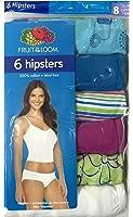 Fruit of the Loom Women's Cotton Hipsters Panties Ladies Underwear