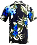 Tropical Luau Beach Floral Print Men's Hawaiian Aloha Shirt