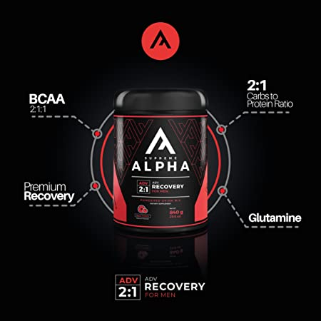 Supreme Alpha Advanced Post Workout Recovery for Men BCAA s, Glutamine, L-Citruline, Vitamin D for Healthy Life-Style