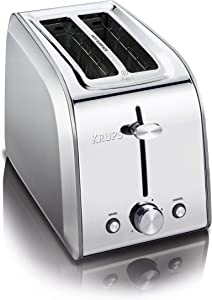 KRUPS KH250D51 Stainless Steel Toaster with 6 Adjustable browning settings, 2-Slice, Silver