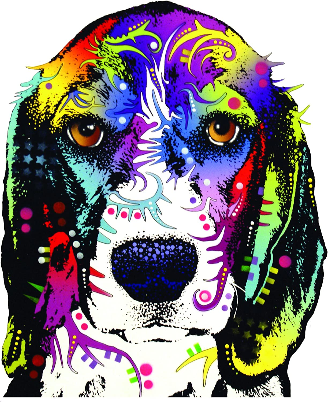 Enjoy It Dean Russo Beagle Car Stickers, 2 Pieces