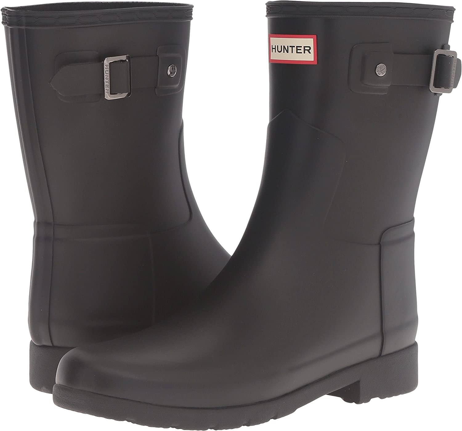 Hunter Womens Original Refined B(M) Short Rain Boots B01IC3SDRI 6 B(M) Refined US|Black 771d51