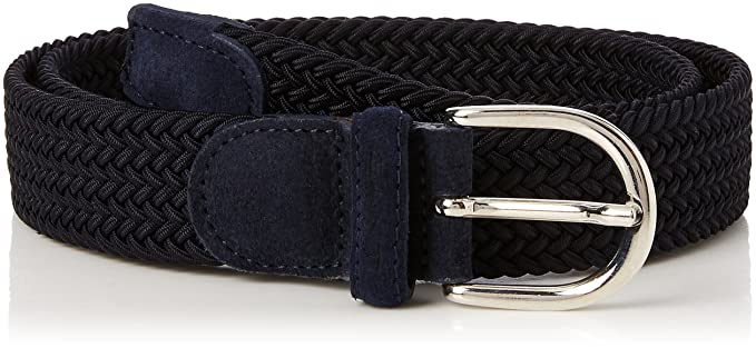 91065f8d98a5 GANT Women s O1. Elastic Braid Belt Blue (Marine), L (Size  38 95 ...