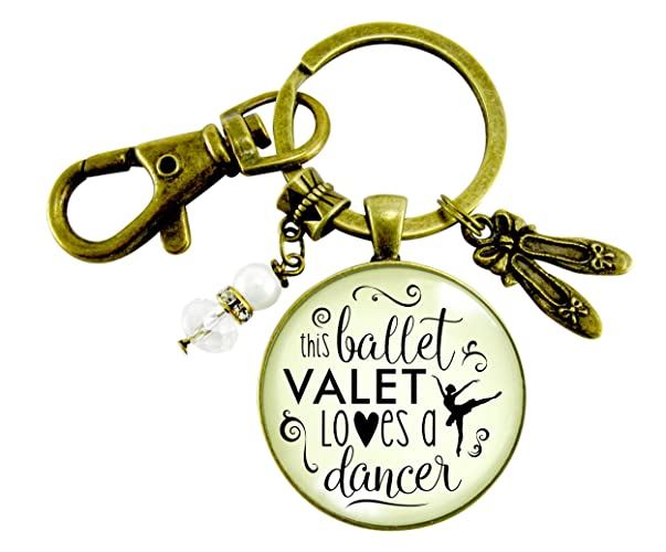 amazon com dance moms keychain this ballet valet loves a dancer