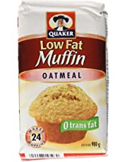 Quaker Muffin Mix Low Fat Oatmeal, Pack of 12, 900g