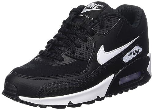 cheap for discount d4af6 c7cf7 Nike Air Max 90, Scarpe da Ginnastica Basse Donna, Nero (Black White