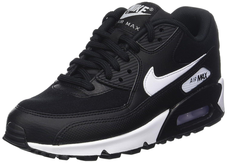 NIKE Women's Air Max 90 Running Shoe B078JF2GNR 9.5 B(M) US|Black White