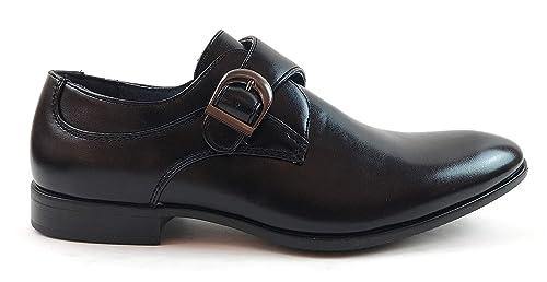 Zapatos Monk Strap Hombre con Punta Elegante para Traje con ...