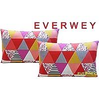 Everwey Enterprise Medium Hard Cotton Printed Pillows 17 x 27 Inches 2 Pillow Set/Pair