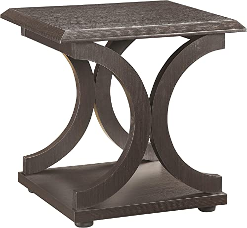 C-Shaped End Table Cappuccino