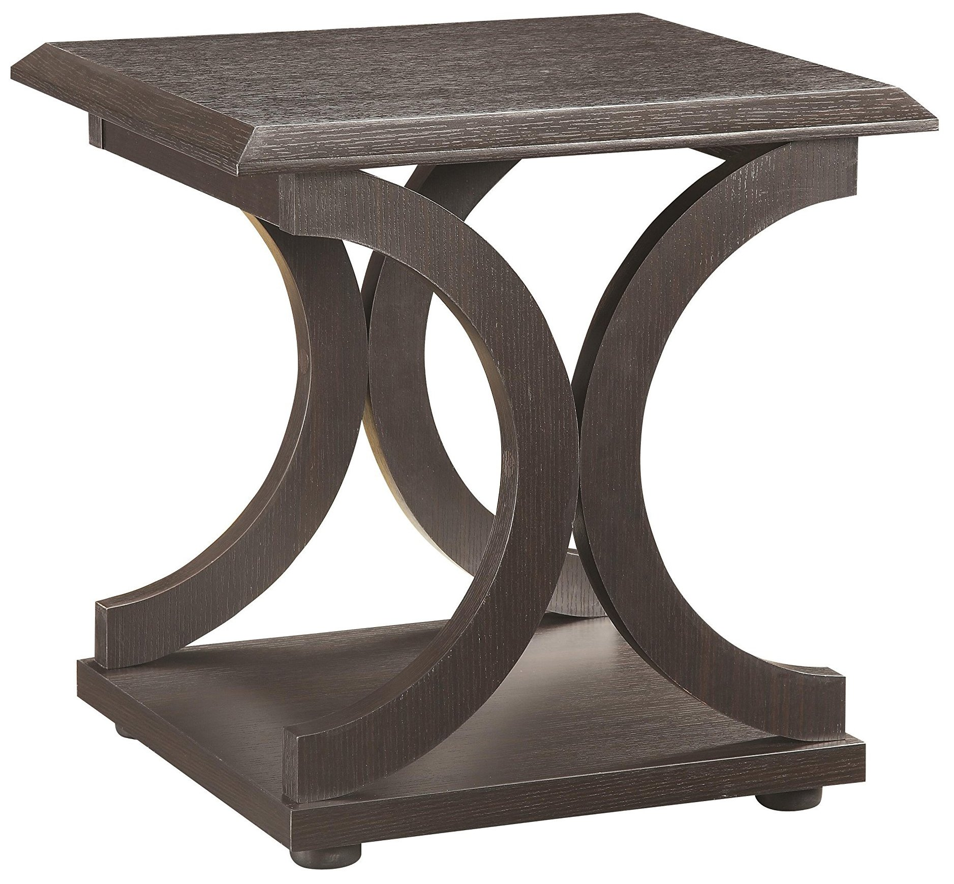 C-Shaped End Table Cappuccino by Coaster Home Furnishings