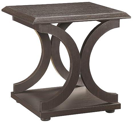 Amazon.com: Coaster Muebles Madera Mesa auxiliar – capuchino ...