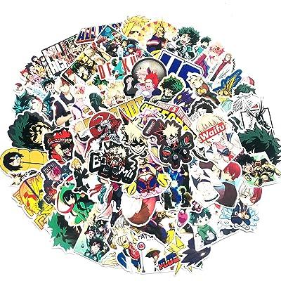 LAUREN DAVISsdgsd Anime Laptop Stickers , 70 Pcs My Hero Academia Decal PVC Stickers , Popular Cartoon Stickers Used As Laptop Sticker Wattle Bottle Sticker Stickers, Anime Stickers for Children: Toys & Games