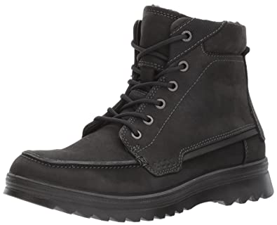 a95a8e74f9 ECCO Men's Darren Mid Cut Boot, Black, 42 EU/9-9.5 M