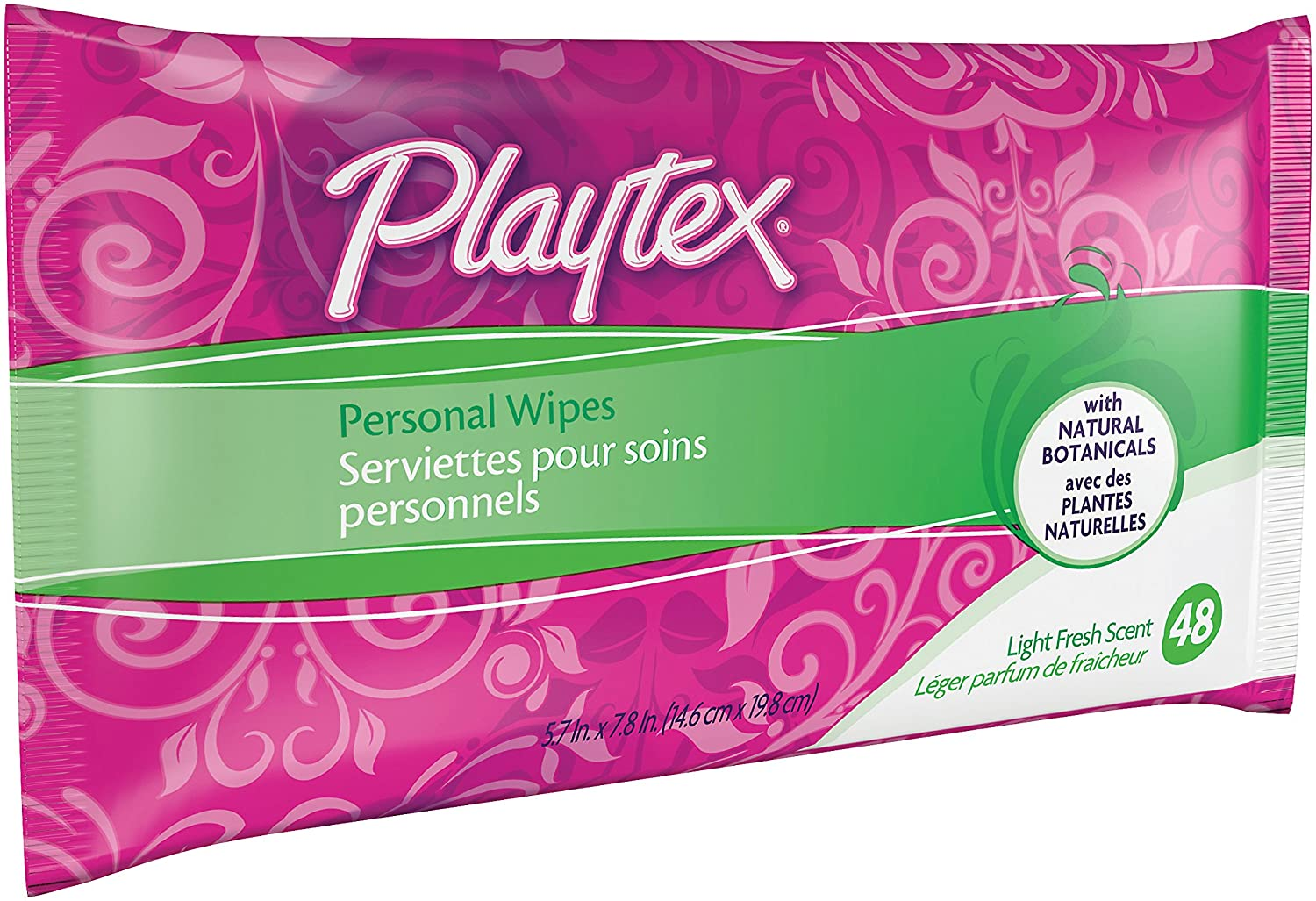 Playtex Personal Cleansing Cloths Refill Pack, Fresh Scent, 48-Count Package (Pack of 3): Health & Personal Care