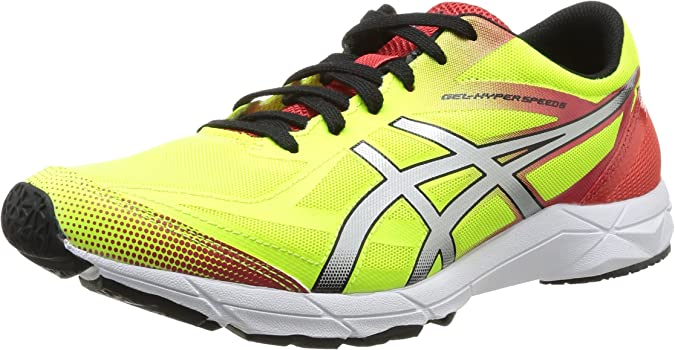 Asics Gel Hyperspeed - Zapatillas de running para hombre, color Fl.Yell/Blk/Red, talla 47: Amazon.es: Zapatos y complementos