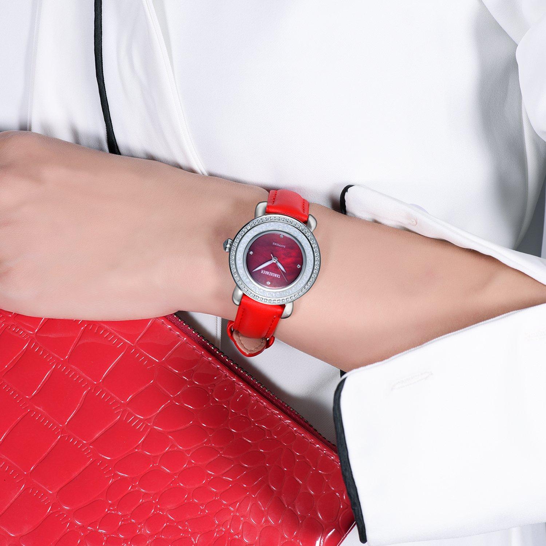 Amazon.com: SONGDU Correa de reloj de piel de liberación ...